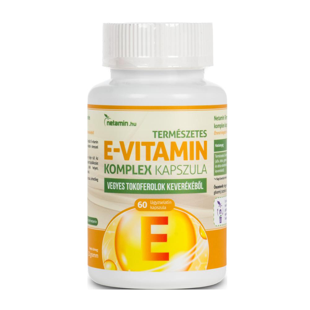 Netamin Természetes E-vitamin komplex  60 kap.