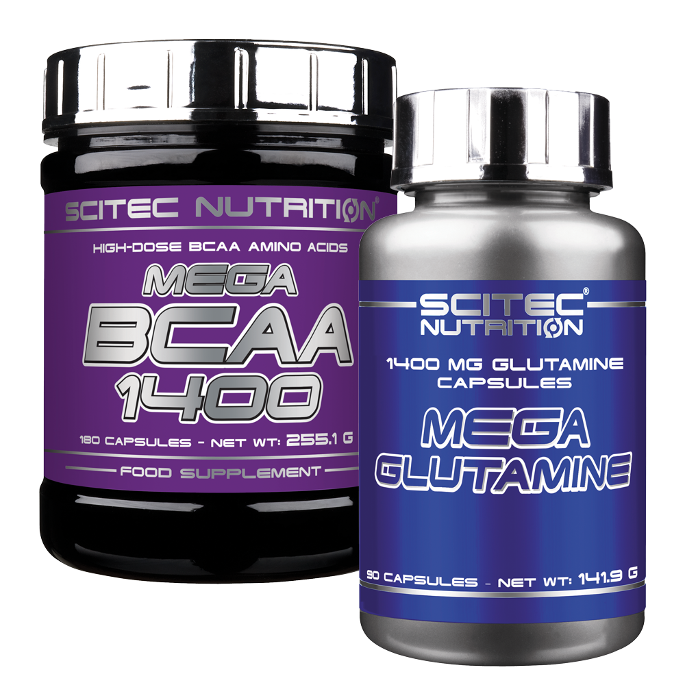 Scitec Nutrition Mega BCAA + Mega Glutamine szett