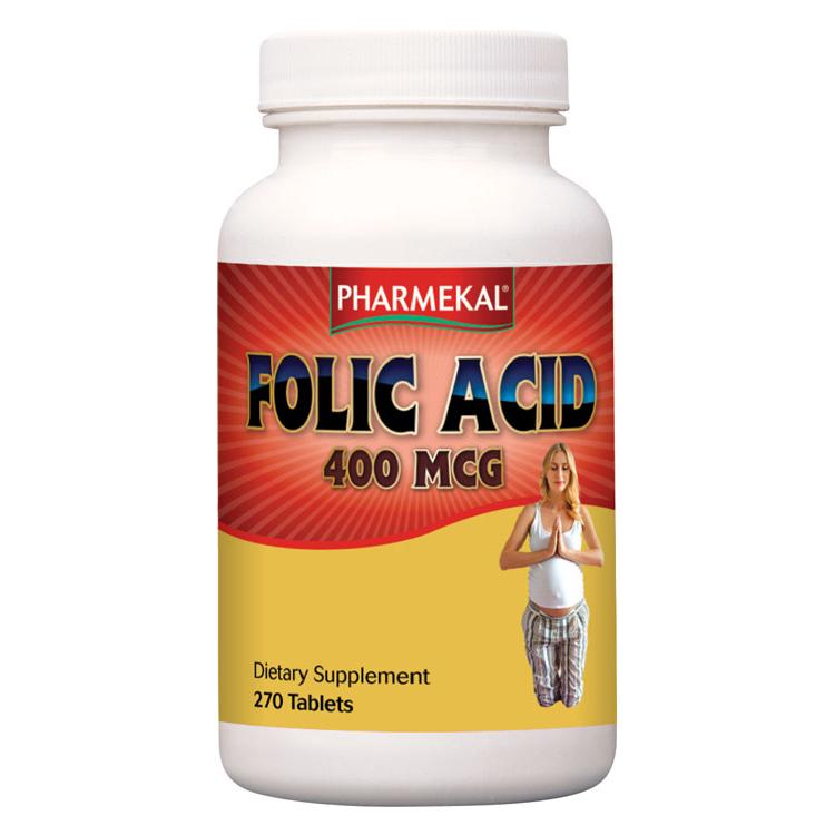 Pharmekal Folic Acid 400mcg 270 tab.