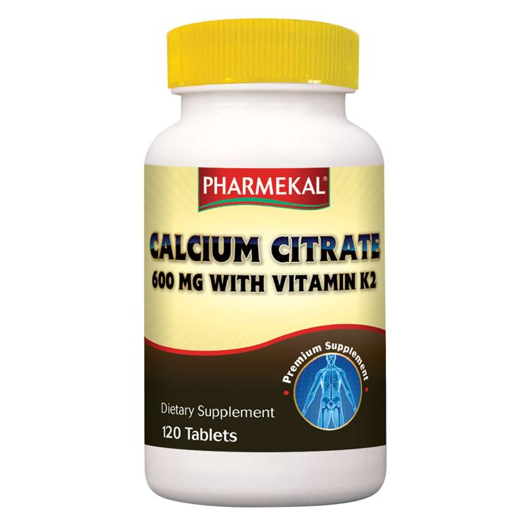 Pharmekal Calcium Citrate with Vitamin K2 120 tab.