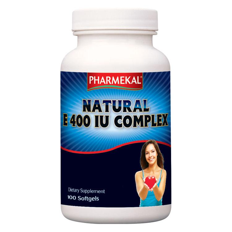 Pharmekal Natural E400 IU Complex 100 kap.