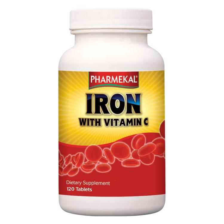 Pharmekal Iron with Vitamin C 120 tab.
