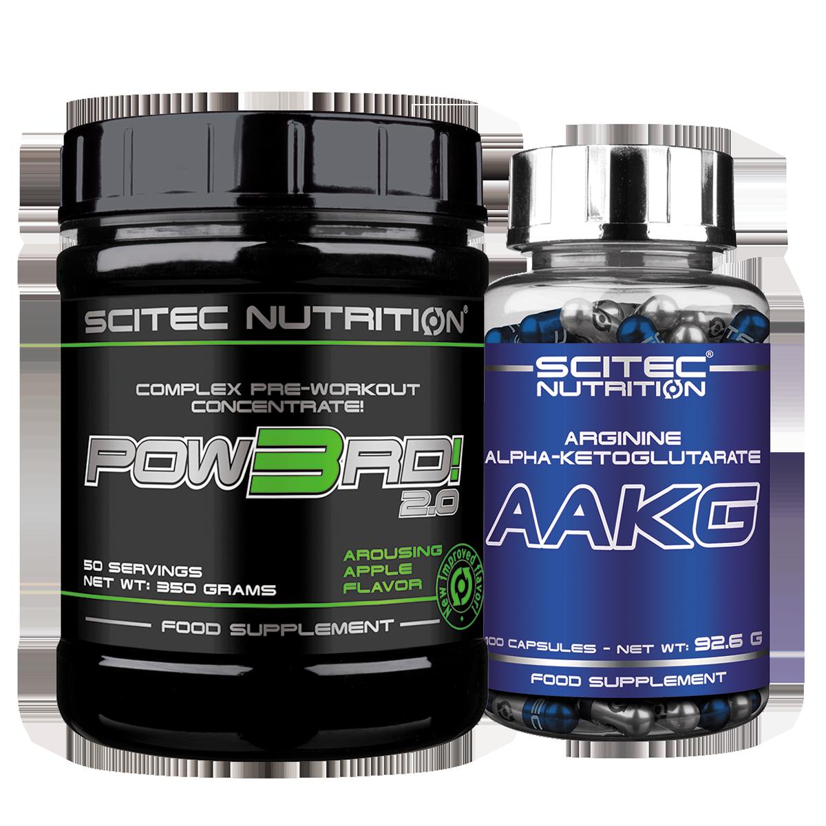 Scitec Nutrition Pow3rd! 2.0 + AAKG szett
