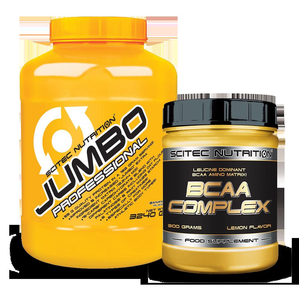 Scitec Nutrition Jumbo Professional + BCAA Complex szett