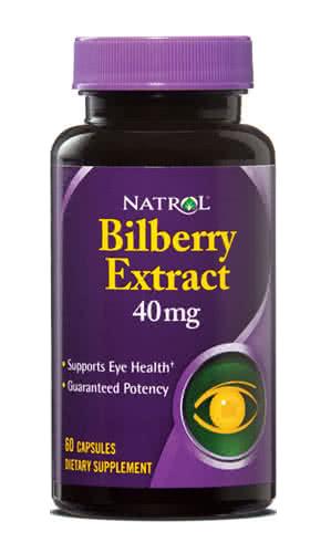 Natrol Bilberry Extract 60 kap.
