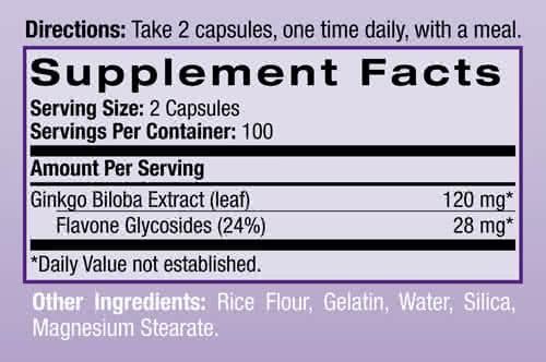 Natrol Ginkgo Biloba (60 mg) 200 kap.
