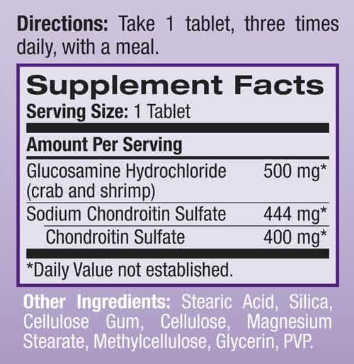 Natrol Glucosamine-Chondroitin 60 tab.