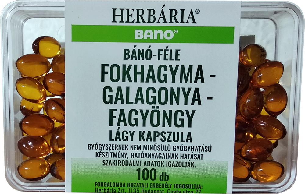 Bano Fokhagyma, galagonya, fagyöngy 100 g.k.