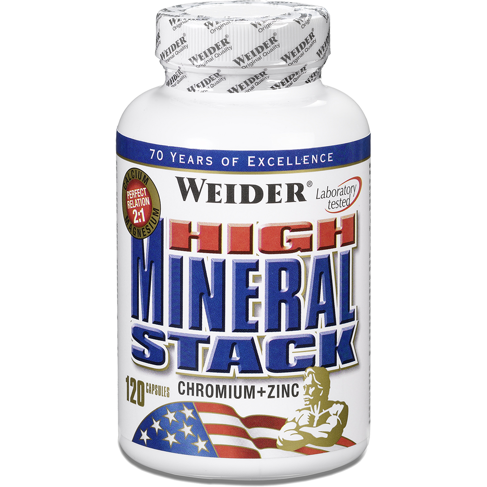 Weider Nutrition High Mineral Stack 120 kap.