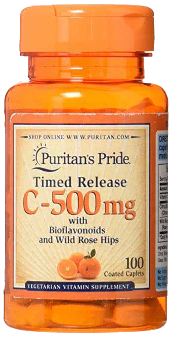 Puritan`s Pride Vitamin-C TR 500mg 100 tab.