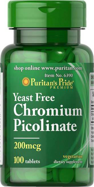Puritan`s Pride Chromium Picolinate 100 tab.