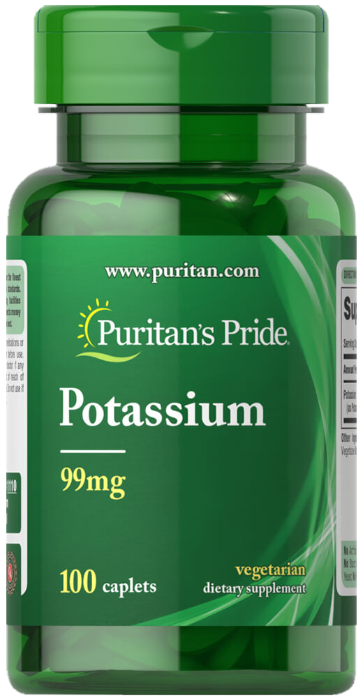 Puritan`s Pride Chelated Potassium 100 kap.