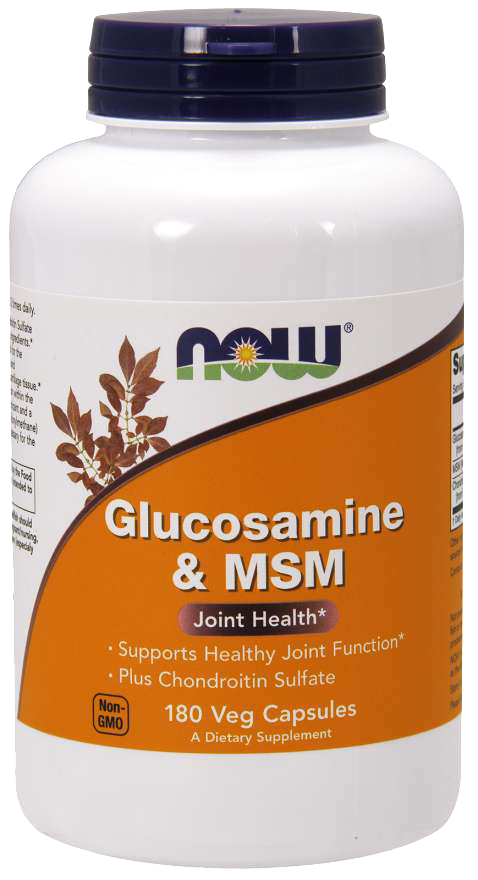 Now Foods Glucosamine & Chondroitin with MSM 180 kap.