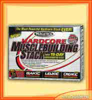 MuscleTech Hardcore Musclebuilding Stack (3 doboz)