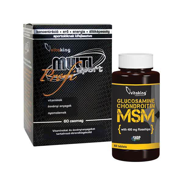 VitaKing Multi sport Profi + Glükozamin Kondroitin MSM komplex  szett