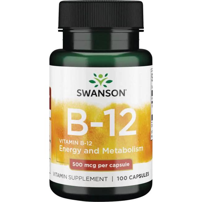 Swanson Vitamin B-12 100 kap.