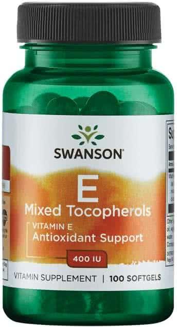 Swanson Vitamin E Mixed Tocopherols (400 NE) 100 g.k.