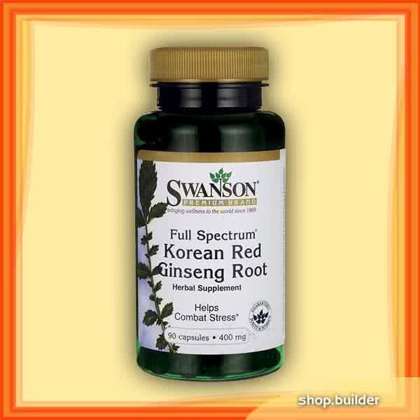 Swanson Korean Red Ginseng Root 90 kap.
