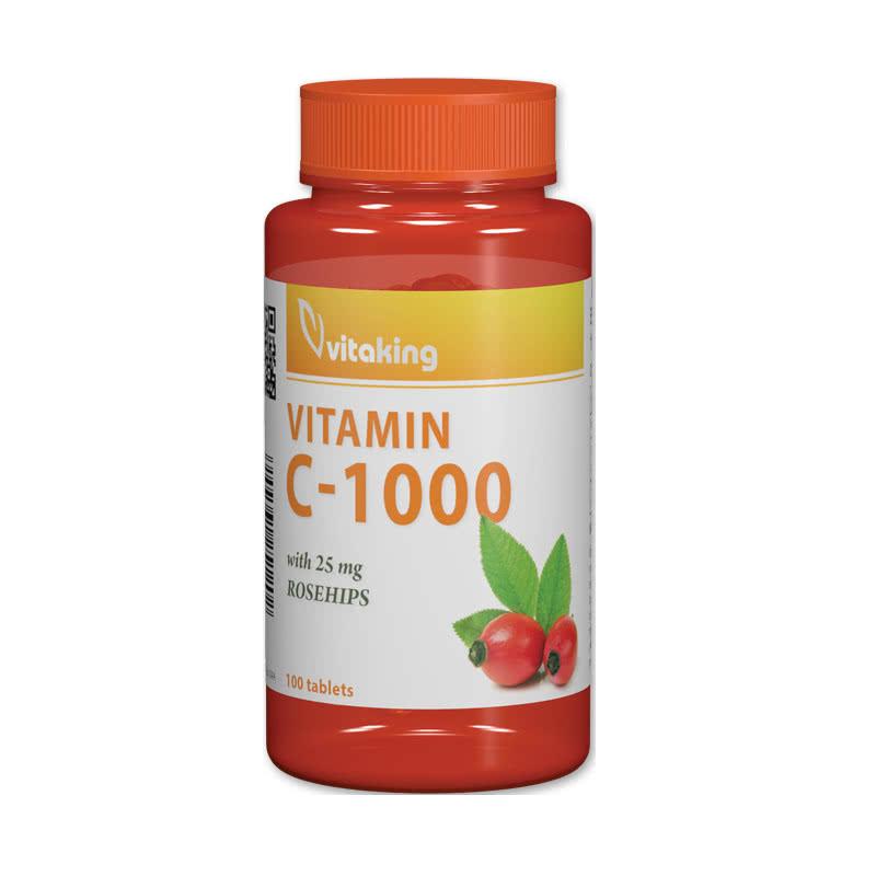 VitaKing Vitamin C-1000 with Rose Hips 100 tab.