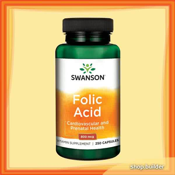 Swanson Folic Acid 250 kap.