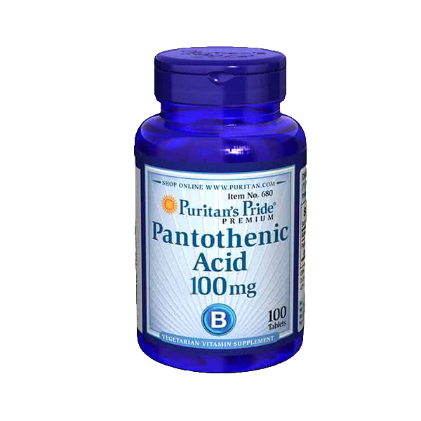 Puritan`s Pride Pantothenic Acid 100 tab.