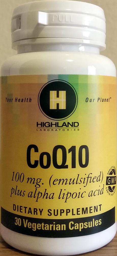 Highland Coenzyme Q10 (100mg) 30 kap.