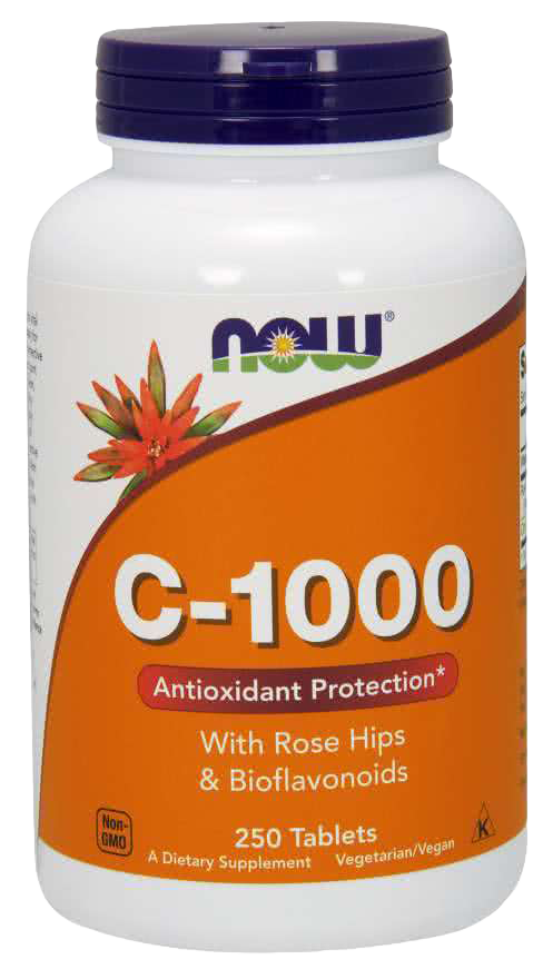 Now Foods Vitamin C-1000 250 kap.