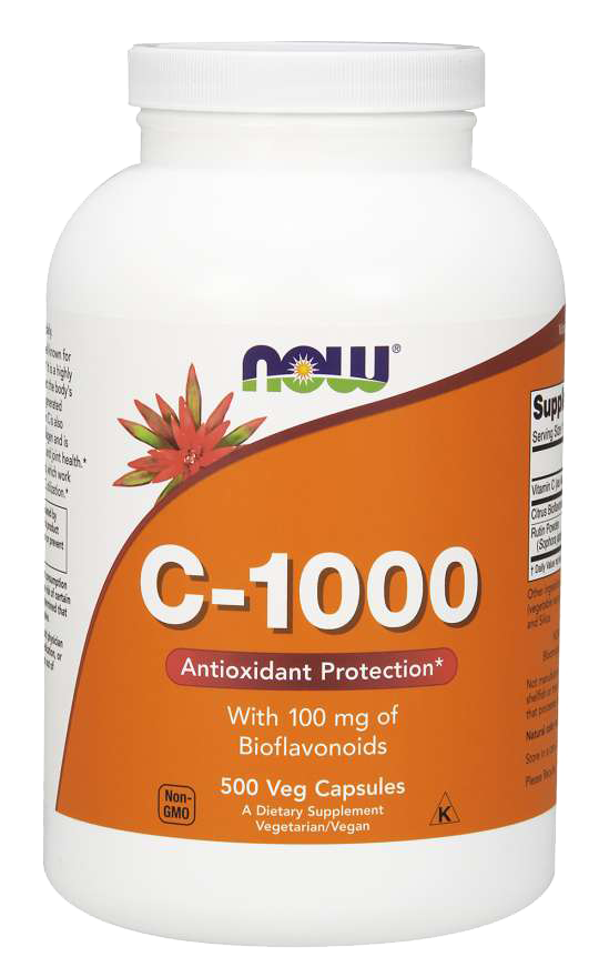 Now Foods Vitamin C-1000 500 kap.