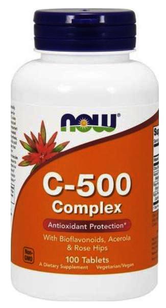 Now Foods Vitamin C-500 Complex 100 tab.