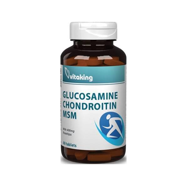 VitaKing Glükozamin + Kondroitin + MSM komplex  60 tab.