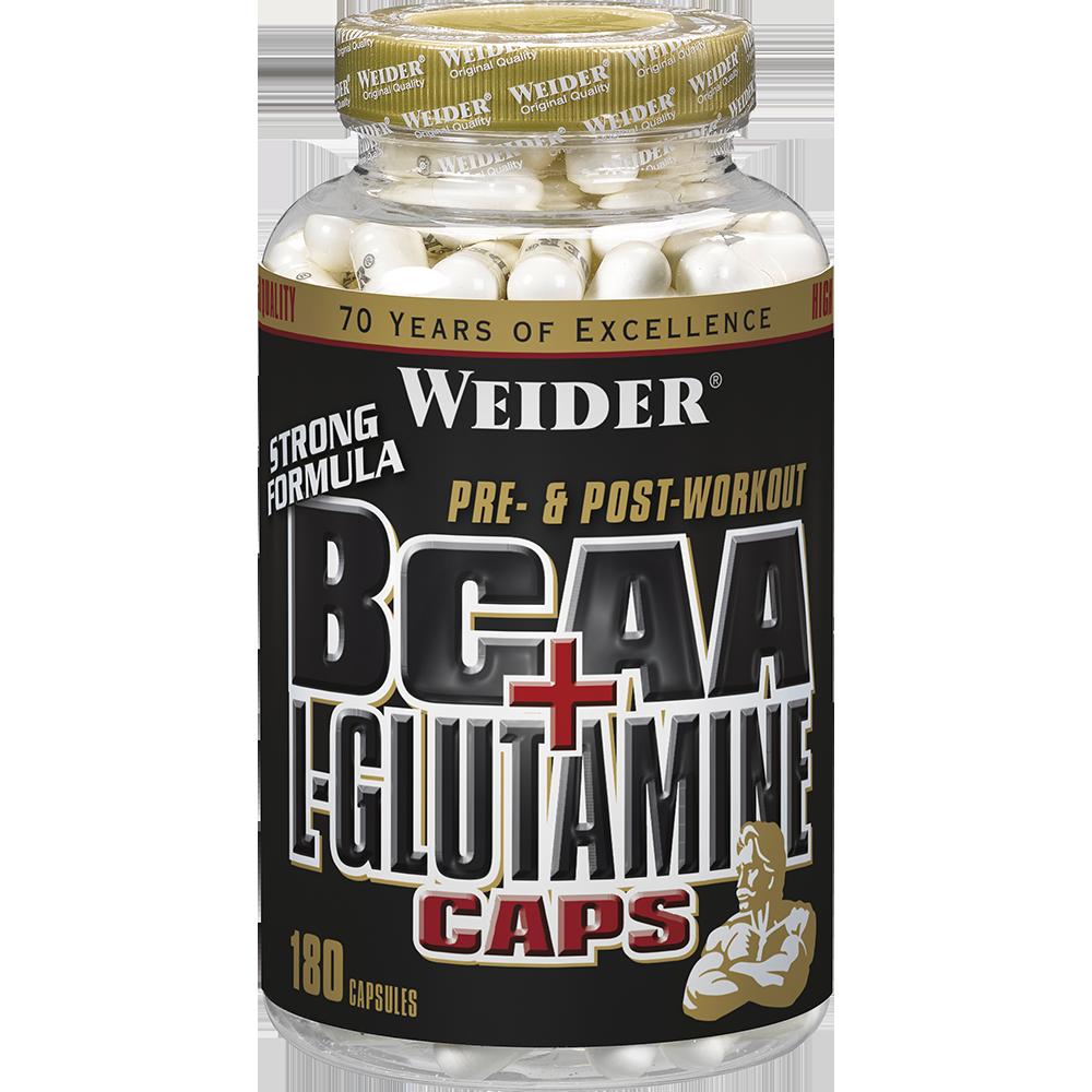 Weider Nutrition BCAA + L-Glutamine Caps 180 kap.