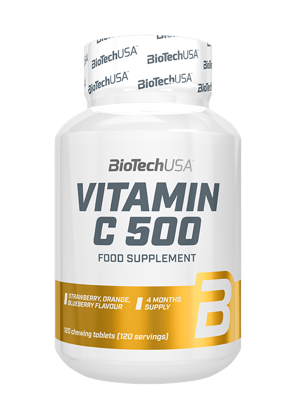 BioTech USA Vitamin C-500 rágótabletta 120 r.t.
