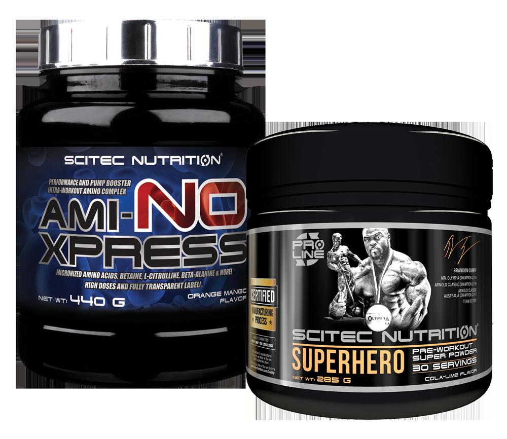 Scitec Nutrition Superhero + Ami-NO Xpress szett