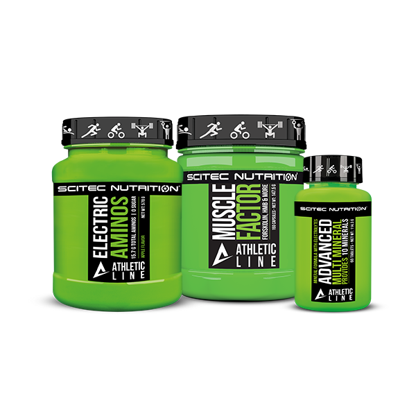 Scitec Nutrition Muscle Factor + Electric Aminos + Advanced Multi Mineral