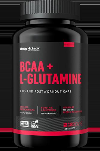 Body Attack BCAA + Glutamine 12000 180 kap.