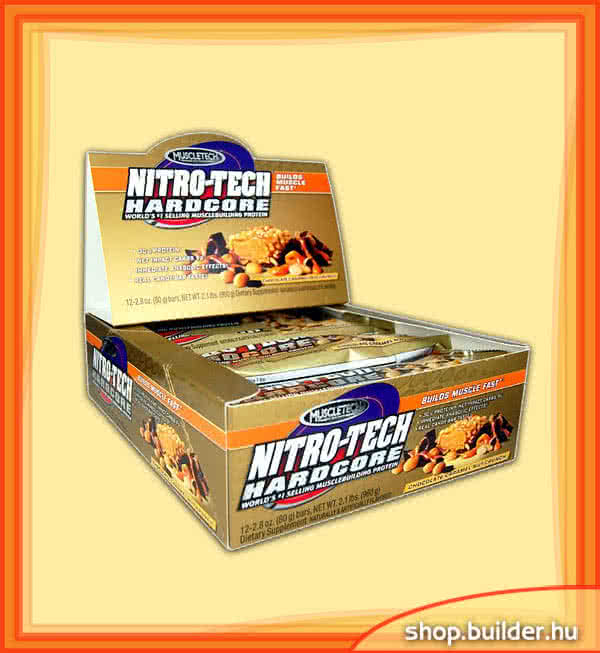 MuscleTech Nitro-Tech Hardcore Protein Bar 12x80 g