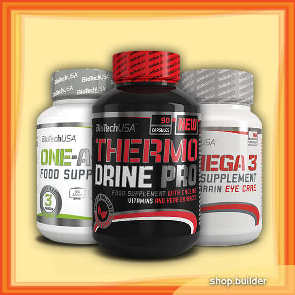 BioTech USA Thermo Drine Pro + One-A-day + Omega 3 szett
