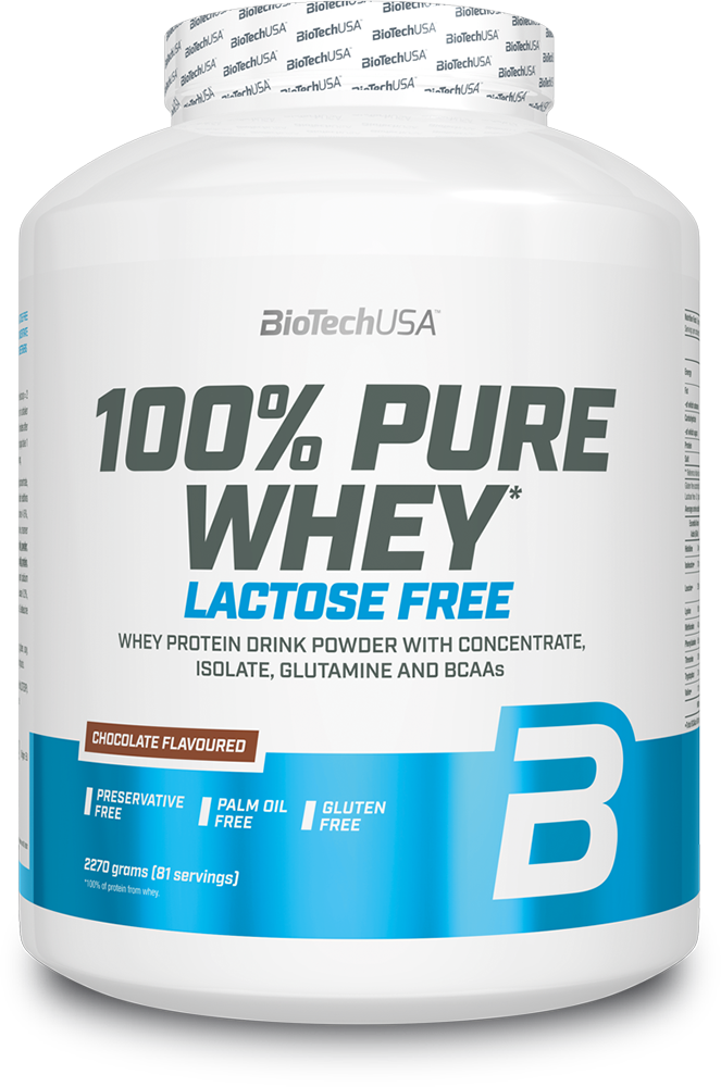 BioTech USA 100% Pure Whey Lactose Free 2,27 kg