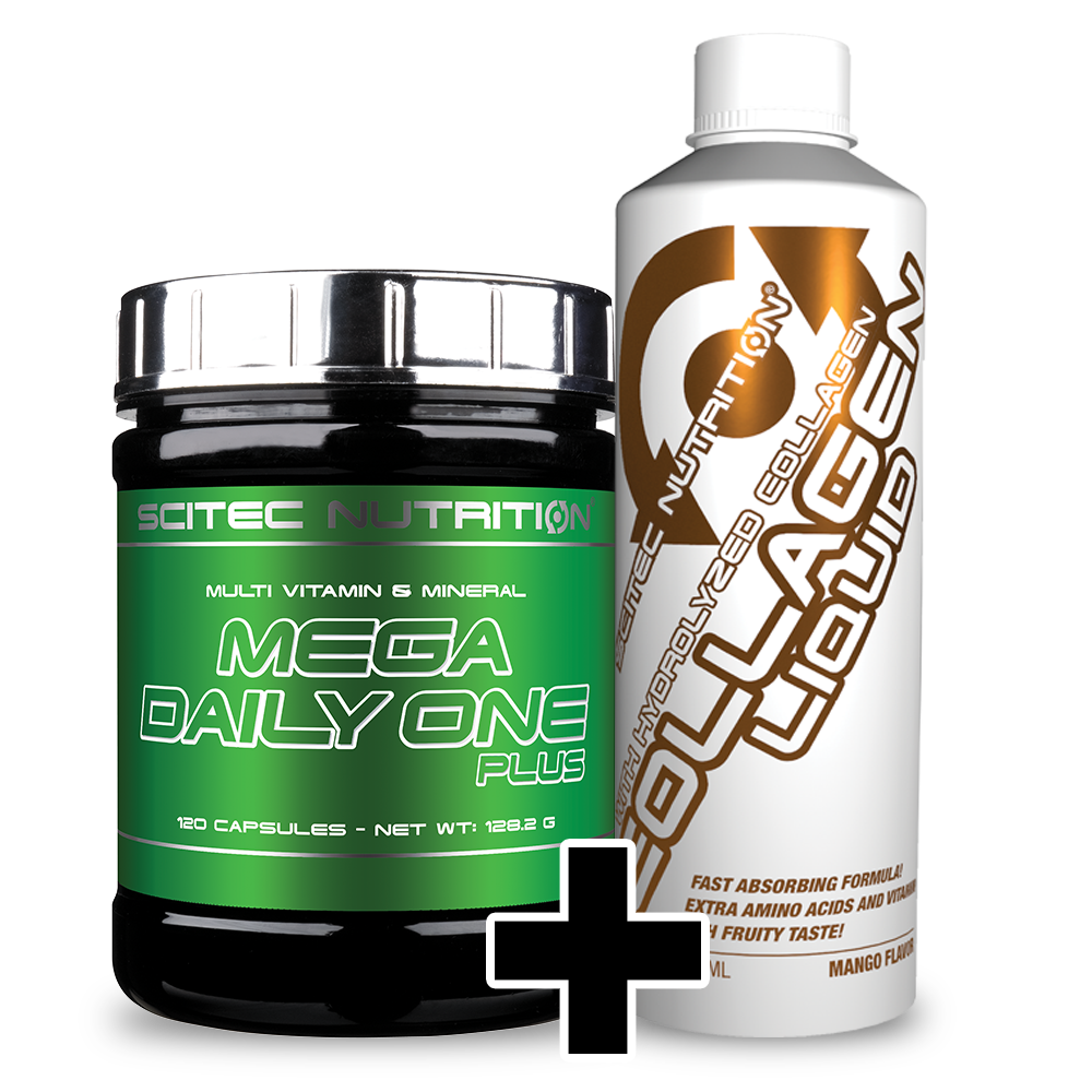 Scitec Nutrition Mega Daily One Plus + Collagen Liquid szett